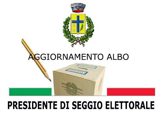 AGGIORNAMENTO DELL'ALBO DELLE PERSONE IDONEE ALL'UFFICIO DI PRESIDENTE DI SEGGIO ELETTORALE